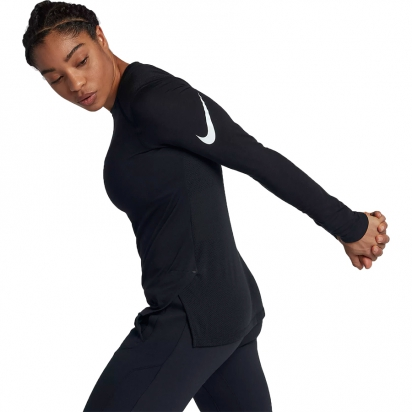 Nike Breath Elite L/S Dam i gruppen BASKET / BASKETKLÄDER DAM / T-Shirts / L/S hos 2WIN BASKETBUTIK (890515-010)