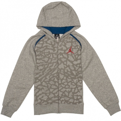 Air Jordan 3 Fleece Hoody Jr i gruppen BASKET / JORDAN / Junior hos 2WIN BASKETBUTIK (953806-042)