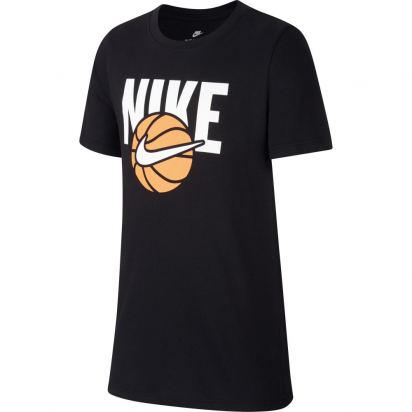Nike Basketball Jr i gruppen BASKET / BASKETKLÄDER JUNIOR / T-Shirts hos 2WIN BASKETBUTIK (AH9513-010)