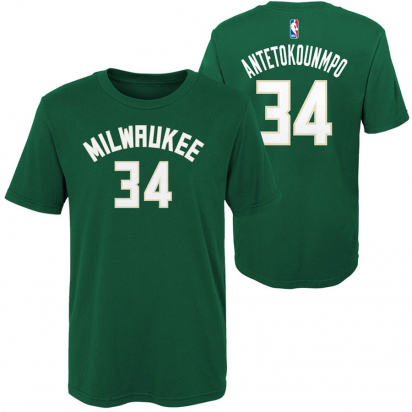Bucks-Antetokounmpo Jr i gruppen BASKET / BASKETKLÄDER JUNIOR / T-Shirts hos 2WIN BASKETBUTIK (EK2B7TD99B01-BCKGA)