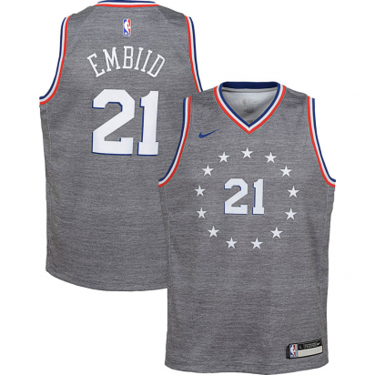 76ERS Swingman-Embiid Jr i gruppen BASKET / BASKETKLÄDER JUNIOR / Tanks hos 2WIN BASKETBUTIK (EZ2B7B1BP-EMBIID)