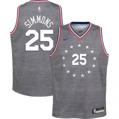 76ERS Swingman-Simmons Jr i gruppen BASKET / BASKETKLÄDER JUNIOR / Tanks hos 2WIN BASKETBUTIK (EZ2B7B1BP-SIMMONS)