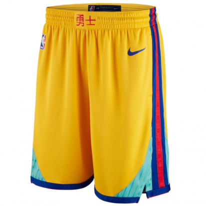 Warriors Swingman Short Jr i gruppen BASKET / BASKETKLÄDER JUNIOR / Shorts hos 2WIN BASKETBUTIK (EZ2B7BAAK-WAR)