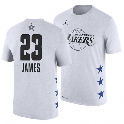 ALL STAR 2019 LAKERS-LeBron Jr i gruppen BASKET / BASKETKLÄDER JUNIOR / T-Shirts hos 2WIN BASKETBUTIK (EZ2B7BBHM-LAKJL-VIT)