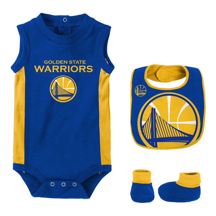 detailed look 25b95 b5dab Golden State Warriors Overtime Creeper Set Baby